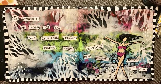 open art journaling