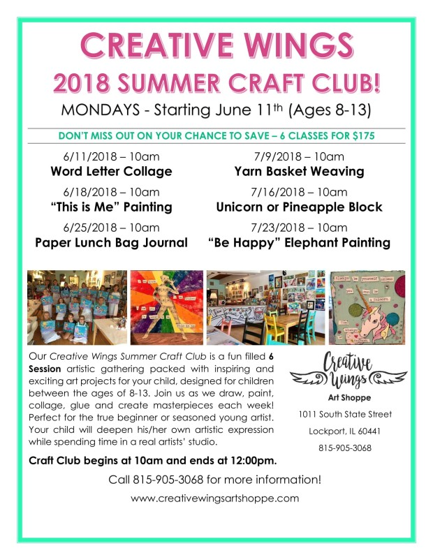 Summer Craft Club flyer 2018-1