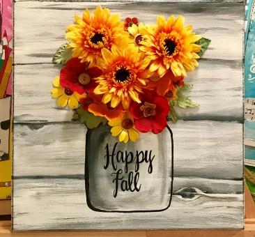 Fall Flower Mason Jar 2