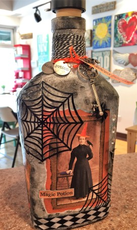 Decorative Halloween Bottle