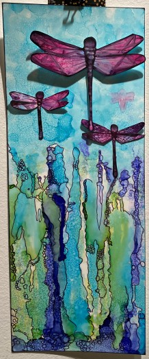 alcohol inks dragon fly